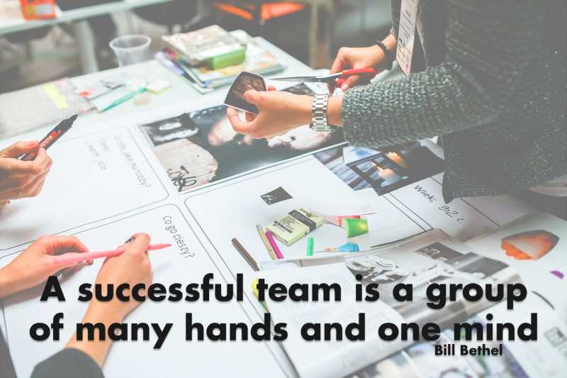 A successful team is a group of many hands and one mind.—Bill Bethel