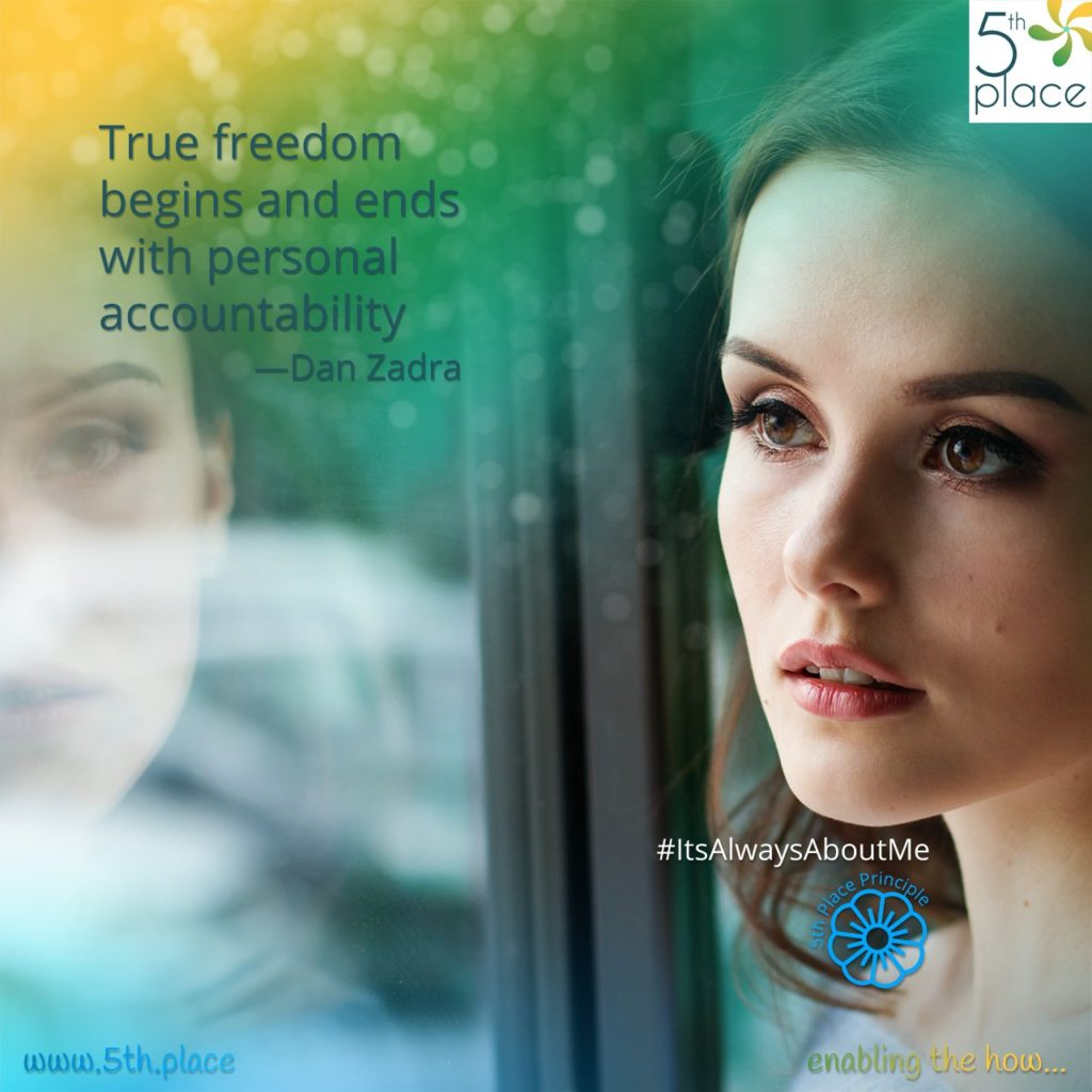 """""""True freedom begins and ends with personal accountability.""""<br/>—Dan Zadra"""